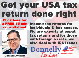 Donnelly Tax Law banner on Expats in Spain