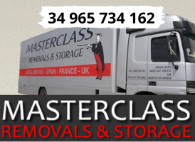 Masterclass Removals banner on Expats in Spain
